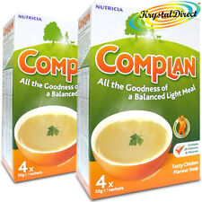 2x Complan Chicken Nutrition Vitamin Rich Supplement Protein Energy Soup 4x55g