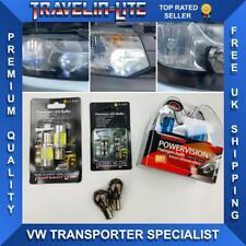 VW T6 Headlight Upgrade Bulb Kit H4 DRL Sidelights Chrome Indicator Transporter