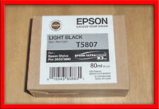 T5807 Genuine Epson Pro 3800 3880 Light Black Ink T580700 w/exp 01-2018