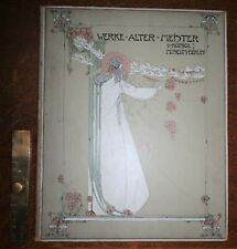 1902 Werke Alter Meister Illustrated by Jessie M King Scarce First Edition