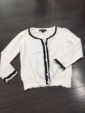 forever 21 Classy Black White Light Layering Designer Look Button Cardigan Sz S