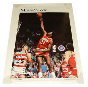 "1977 Sports Illustrated Poster Moses Malone Measures 24"" X 36"""