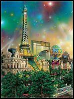 Chart Needlework DIY - Counted Cross Stitch Patterns - Las Vegas, Paris