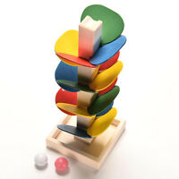 Educational Toy Montessori Block Wooden Tree Marble Ball Run Track Baby Toy NP2Z