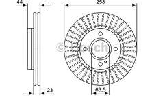 BOSCH Juego de 2 discos freno Antes 258mm ventilado FORD FIESTA 0 986 479 566