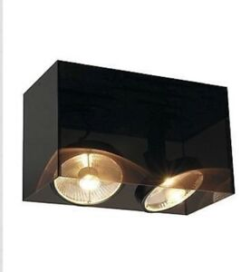 Lot Of 3 SLV 117232 ACRYLIC BOX 2pce ES111 black/translucent