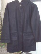 Beau manteau noir Etam 40 42 44 L (mesures) neuf droit ample