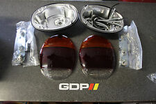 Custom Flush Tail Lights, Amber, 1973-1979 VW Bug/ Super Beetle, Pair, 2012