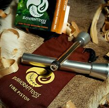 Fire Piston - Pyro Piston - Bushcraft / Survival Fire Lighting (SILVER)
