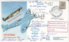 Spitfire Cover Signed H A Fenton   & 11 Battle of Britain pilots,Crew,