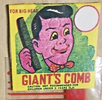 VINTAGE BIG 12 INCH GIANT'S COMB 1980S RED PLASTIC RACK TOY MINT IN PACK MIP!!