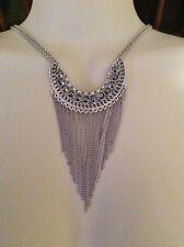 "Lucky BRAND Jewelry JLRY5016 Silver Fringe Necklace 28"""