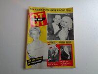 ON THE QT Vintage MAGAZINE July 1957 Celebrity Movies Jayne Mansfield Liz Taylor