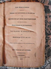 PENNSYLVANIA  USA THE PROCEEDINGS RELATIVE TO CALLING THE CONVENTION OF 1776 ...
