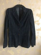 b99fa0ad760f Miu Miu By Prada Women s Dark Denim Blazer Jacket Size 44IT Made In Italy