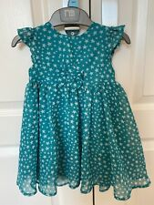 Beautiful Girls 9-12 Months Star Party Dress Bow Mothercare VGC