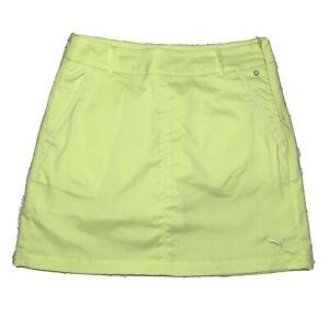 "Puma Cobra Golf Neon Yellow High Rise Athletic Skort Size 30"" Waist 567056"