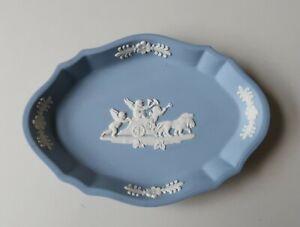 **Vintage 11.5cm Wide Wedgwood Blue & White Japer Ware Dish