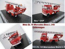 Metz dl 18 Mercedes-Benz L 319 bomberos escalera Walsrode DeAgostini Ixo 1:72