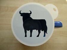 100mm bull design craft stencil and coffee stencil