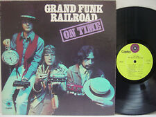 """GRAND FUNK - On Time LP (1st US Pressing on """"lime-green"""" CAPITOL, Debut Album)"""
