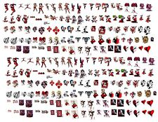 200+Water Decals Nail Art Harley Quinn From the Suicide Squad 3 Variations