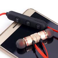 Magnet Wireless Bluetooth Earphone Head Headphone For Samsung/iPhone
