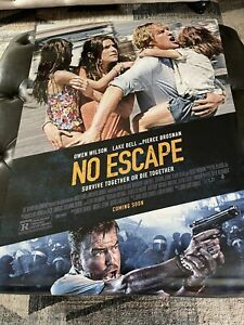 No Escape Theatrical Poster 27x40 D/S NEAR MINT Never Used SEE PHOTOS