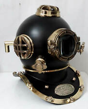 Antique Black Vintage Scuba Diving Helmet US Navy Mark V Deep Sea Boston Divers