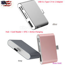 Type-C 4 in 1 USB C to USB3.1 Hub SD/MicroSD Card Reader Adapter for MacBook