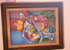 Roi David Annisey b.1967 Haiti 'Voodoo/Vodou' 1998 Oil on Canvas Original Frame
