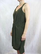 Therese Rawsthorne Size 8 Dark Green Silk Shift Dress