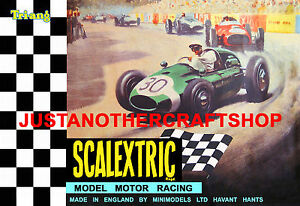 Scalextric 1967 Poster Advert A3 Size Shop Display Sign Leaflet Slot Car Racing