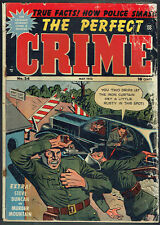 THE PERFECT CRIME  24  GD/2.0  -  Cool crime book from 1952!