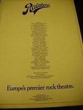 RAINBOW Theatre London 1974 PROMO AD Beefheart SABBATH Gary Glitter SLADE Heep