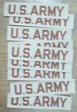 LOT OF 10 U.S. ARMY DESERT TAN NAME TAPE TAKE A LOOK