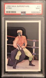 1988 Wonderama NWA Superstars #17 Sting Rookie PSA 9 Mint