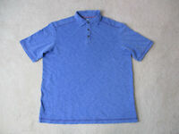 Tommy Bahama Polo Shirt Adult Medium Blue Red Relax Lightweight Mens H*