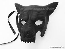 Animal Masquerade Wolf Halloween costume Birthday Party Art Wall Deco black Mask