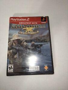 SOCOM II (2) US Navy SEALs PS2 Factory Sealed Greatest Hits Sticker