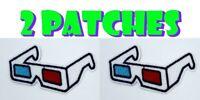2pcs 3D Glasses Vintage Movie Retro Fashion Style Iron on Patch Applique NEW