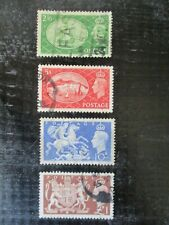 Great Britain Stamp Lot England Uk Postage Stamp Four Stamps