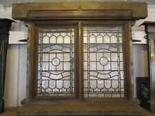 "OAK Arts & Crafts leaded window from Bawdsey Manor 44"" x 45"" x 4""-9""deep"