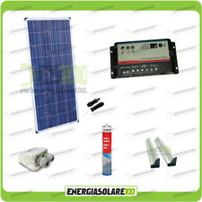 Kit Solare Camper 150W 12V regolatore doppia batteria pannello solare accessori