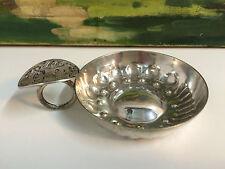 Tastevin ancien en métal argenté  collection Lutz Dijon 7 cm de diamètre