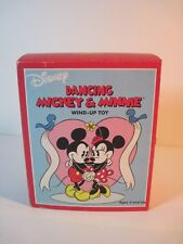 """5"""" DANCING MICKEY & MINNIE WIND-UP TOY RETRO COLLECTION"""