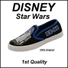 BRAND NEW! ORIGINAL DISNEY STAR WARS R2 D2 Youth Slip On Shoes size 11 Free Ship