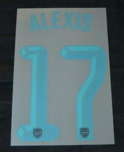 Arsenal Alexis 17 2015/16 Champions League/FA Cup football shirt Name set Third