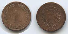 G9555 - Germany Empire 1 Pfennig 1874 A KM#1 Deutsches Reich
