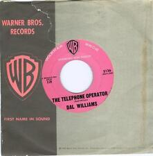 Dal Williams THE TELEPHONE OPERATOR / WHAT IS AN INDIAN  '60 Warner 5136   45rpm